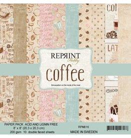 "Reprint Reprint Coffee  8""x 8"" (20.3 x 20.3cm) RPM016"