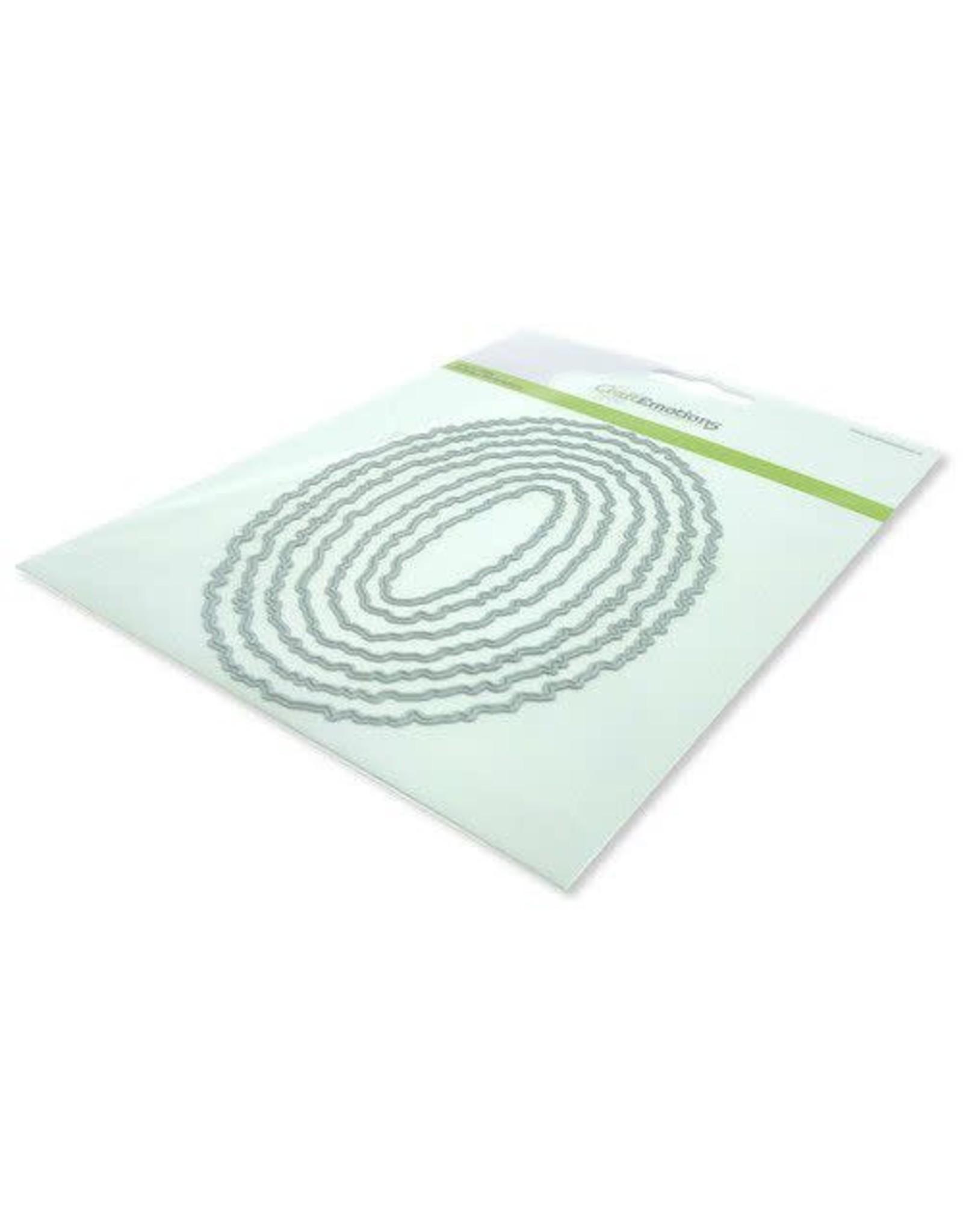 Craft Emotions CraftEmotions Big Nesting Die - deckle ovalen Card 150x160 - 10,5x15cm