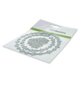 Craft Emotions CraftEmotions Die - krans sterretjes Card 11x9cm 7,3cm