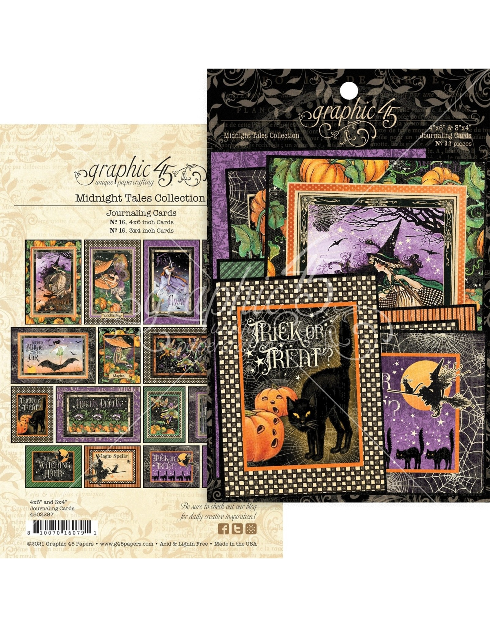Graphic 45 Graphic 45  Midnight Tales   Journaling cards
