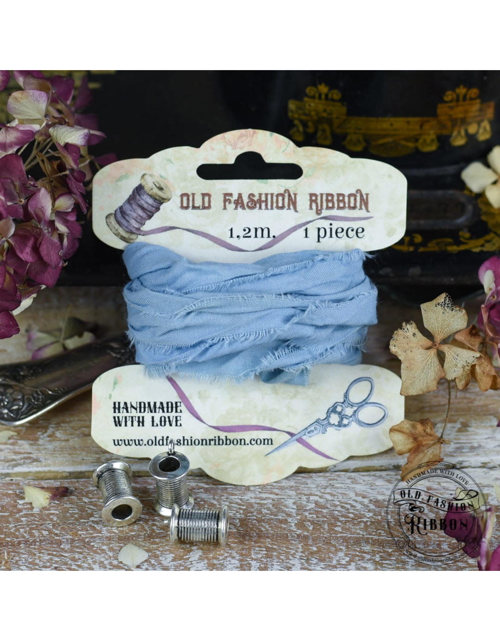 Foamiran Old Fashion Ribbon Linnen Vintage Light blue OLDL33