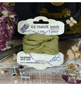 Foamiran Old Fashion Ribbon Linnen Vintage Olive OLDL 19