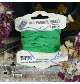 Old Fashion Ribbon Old Fashion Ribbon Linnen Vintage Groen OLDL35