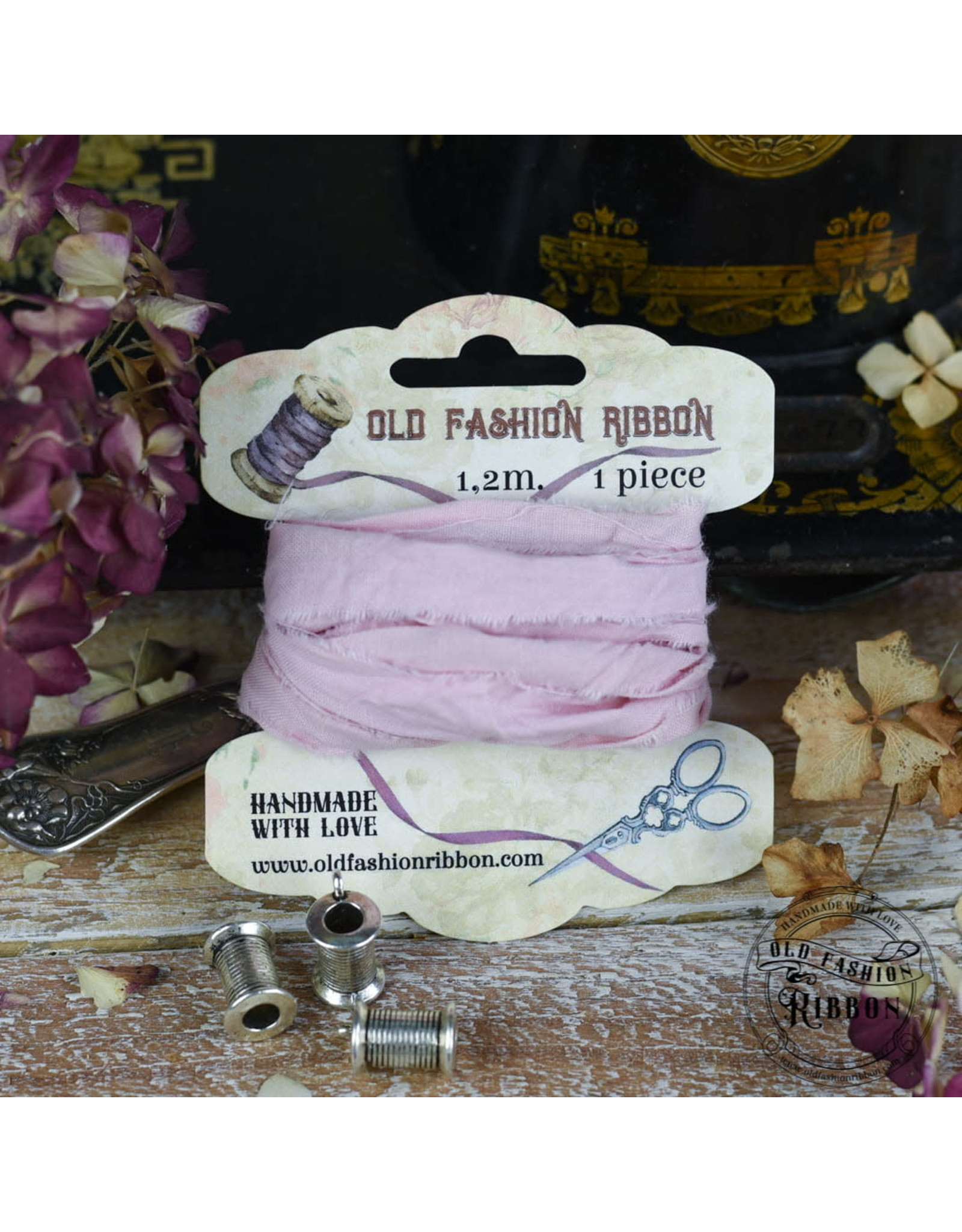 Old Fashion Ribbon Old Fashion Ribbon Linnen Vintage Light Pink OLDL28