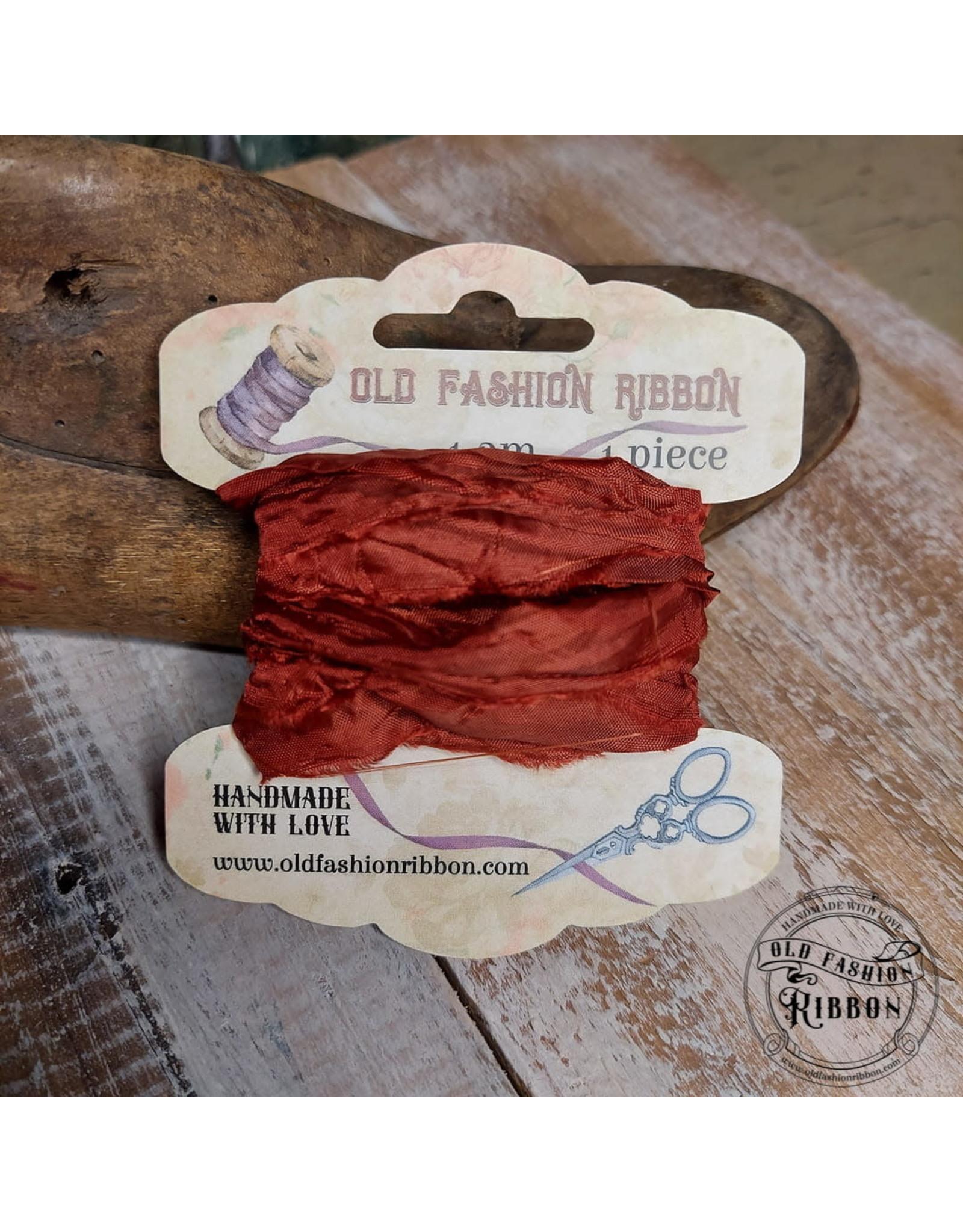 Old Fashion Ribbon Old Fashion Ribbon Satijn Roestbruin OLDSB29