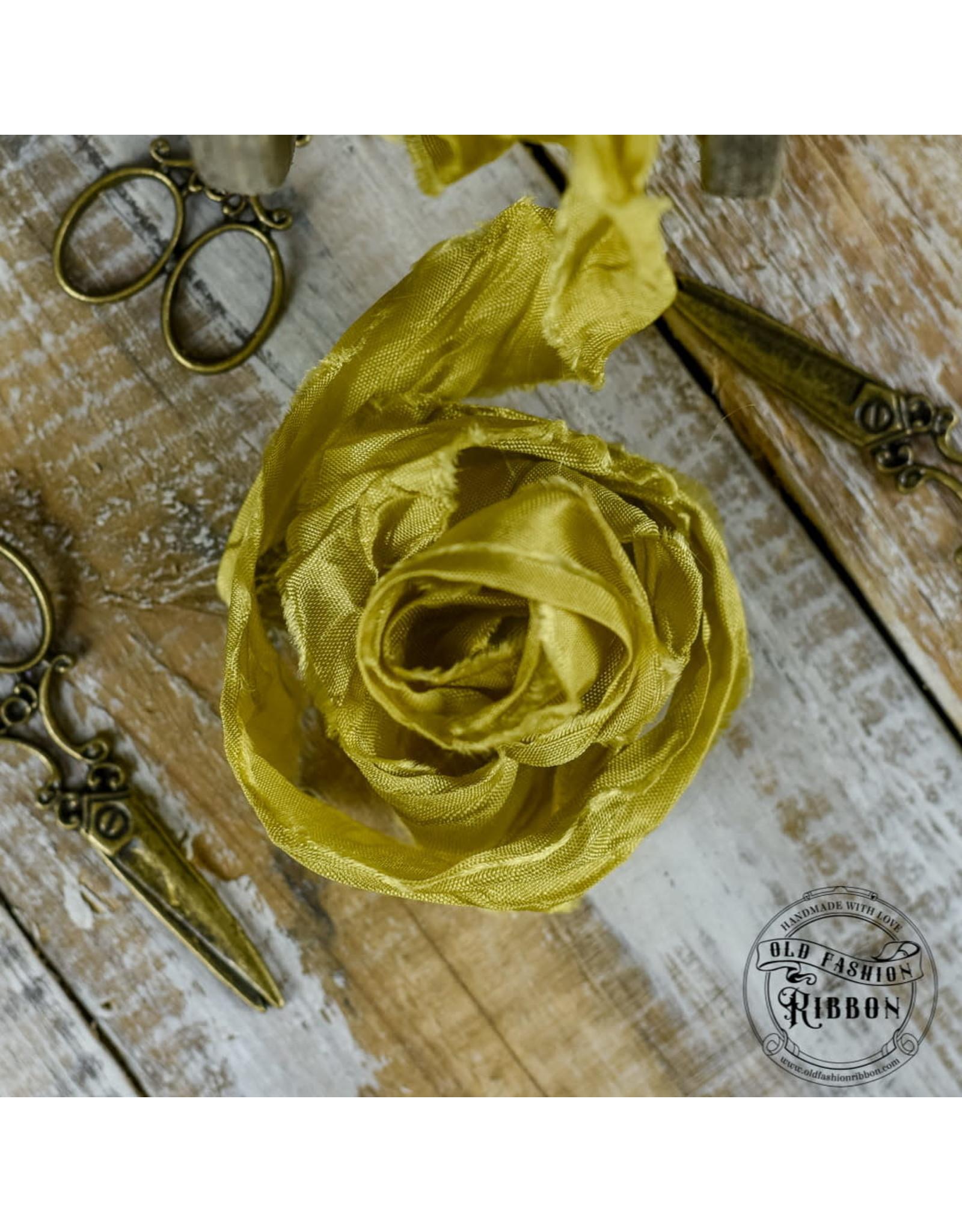 Old Fashion Ribbon Old Fashion Ribbon Satijn ustard OLDSB17