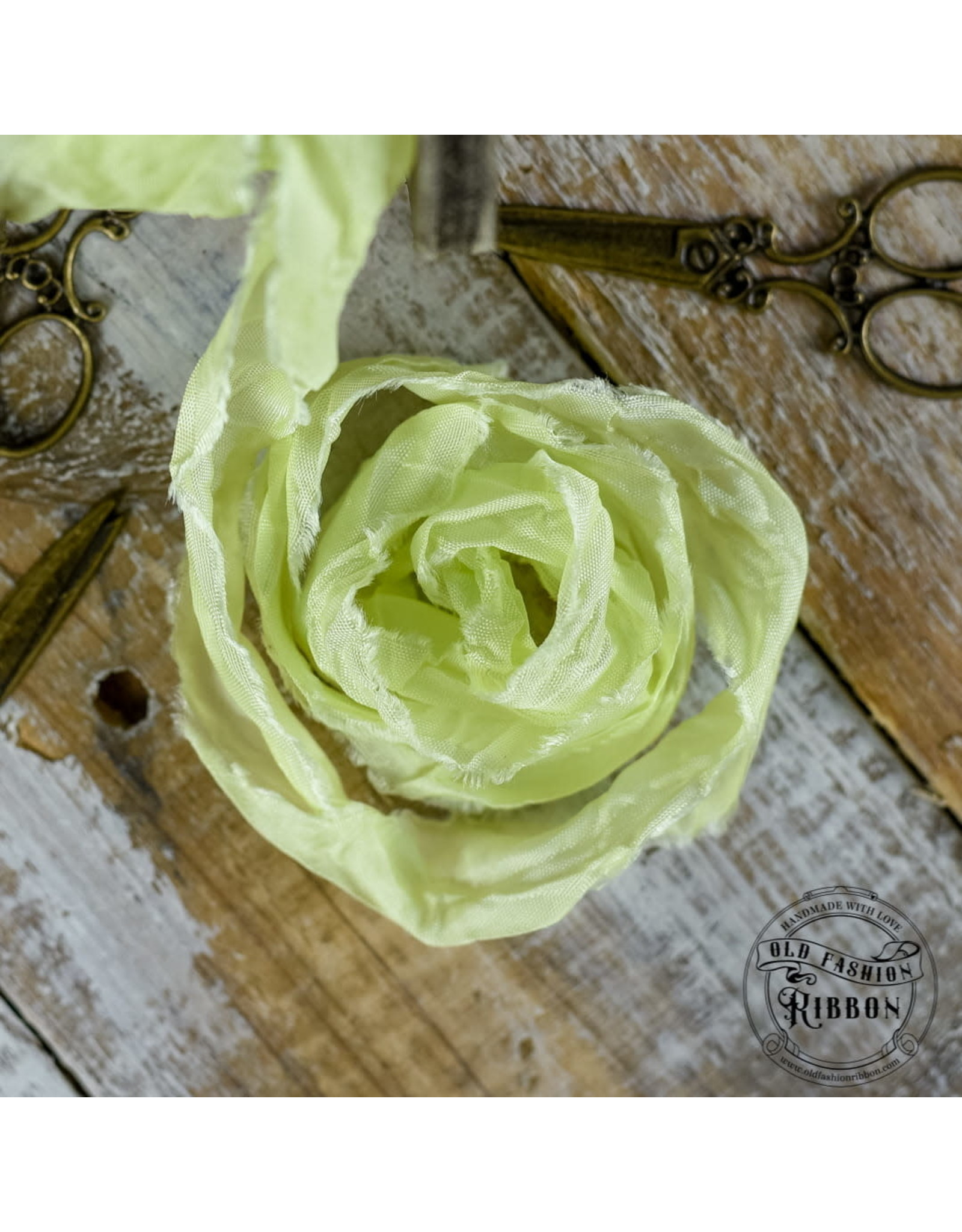 Old Fashion Ribbon Old Fashion Ribbon Satijn Light Lemon OLDSB18