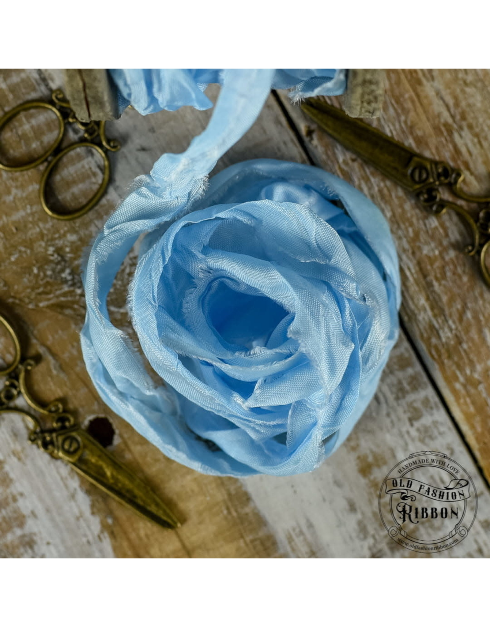 Old Fashion Ribbon Old Fashion Ribbon Satijn Light Blue OLDSB36