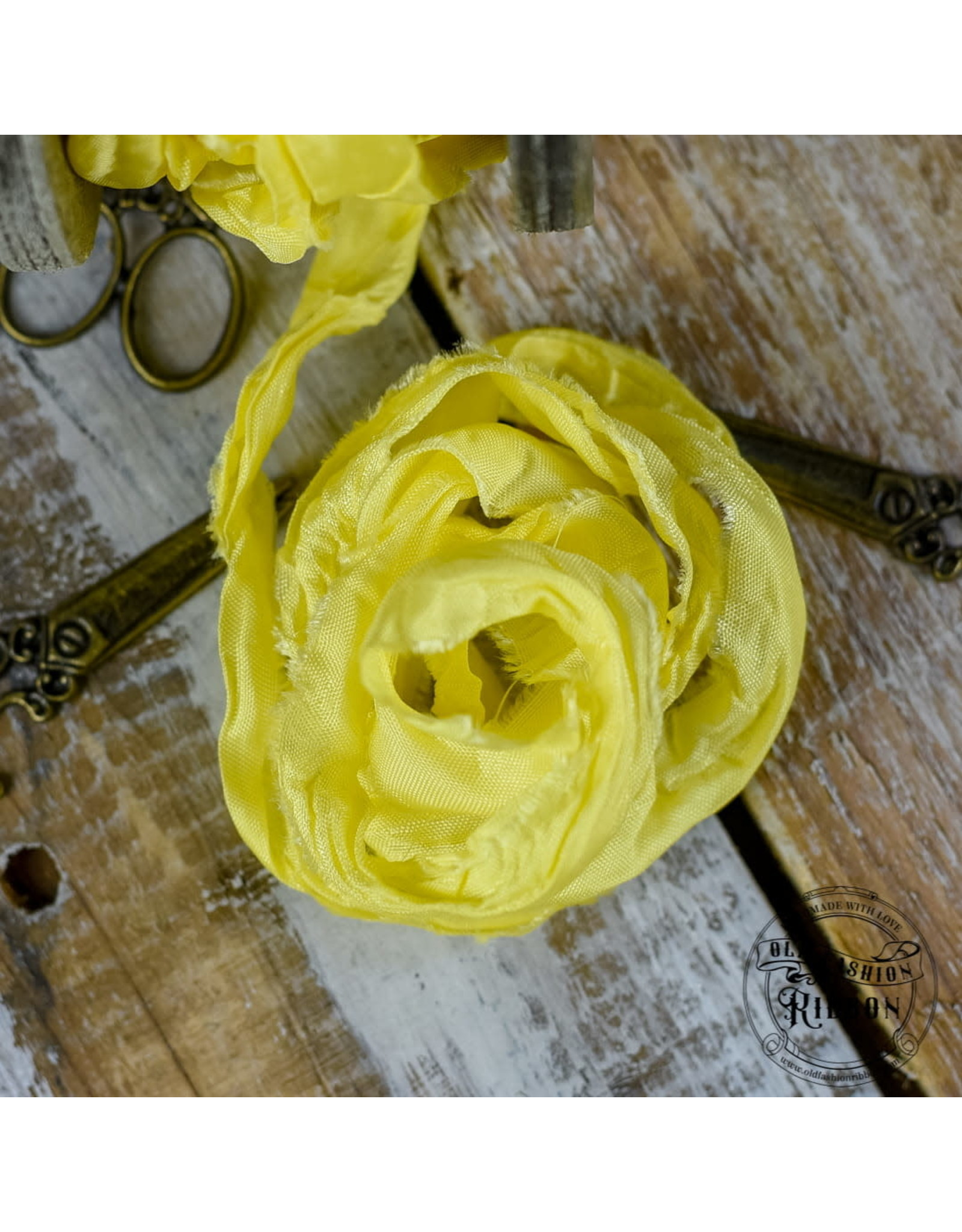 Old Fashion Ribbon Old Fashion Ribbon Satijn  Yellow OLDSB05