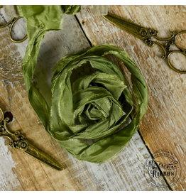 Old Fashion Ribbon Old Fashion Ribbon Satijn  Dark Olive OLDSB48