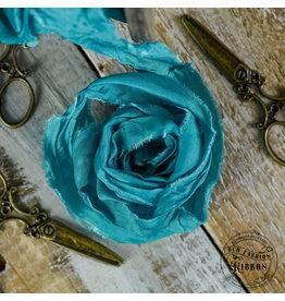 Old Fashion Ribbon Old Fashion Ribbon Satijn Turquoise Sea OLDSB24