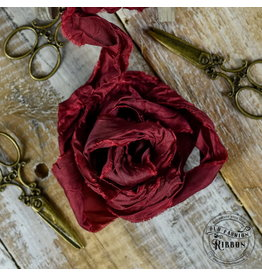 Old Fashion Ribbon Old Fashion Ribbon Satijn Christmas Burgundy OLDSB25