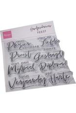 Marianne Design Marianne D Clear Stamp Handgeschreven Feest (NL) CS1086 115x185mm