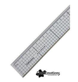 Craft Emotions CraftEmotions Snijliniaal transparant 20cm met metalen rand