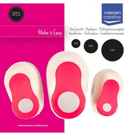 Vaessen Creative Vaessen Creative • Figuurpons set cirkels 10-16-25mm 3stuks