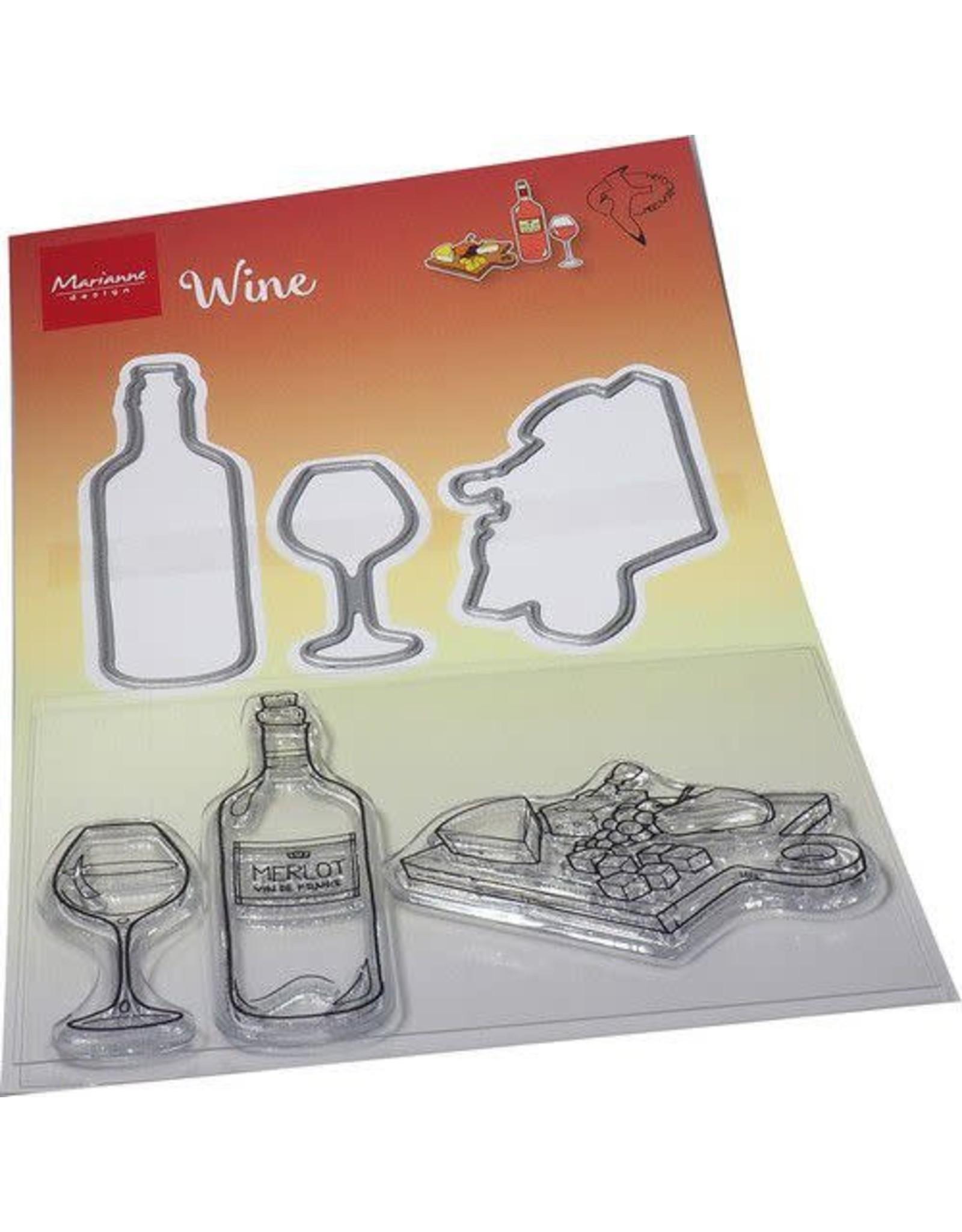 Marianne Design Marianne D Clear Stamp & Die Hetty's Wijn HT1665 120x205mm