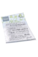 Marianne Design Marianne D Clear Stamps Opkikkers by Marleen (NL) CS1065 182x117mm