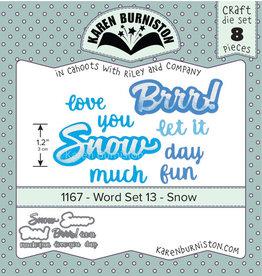 Karen Burniston Karen Burniston Word Set 13 - Snow 1167