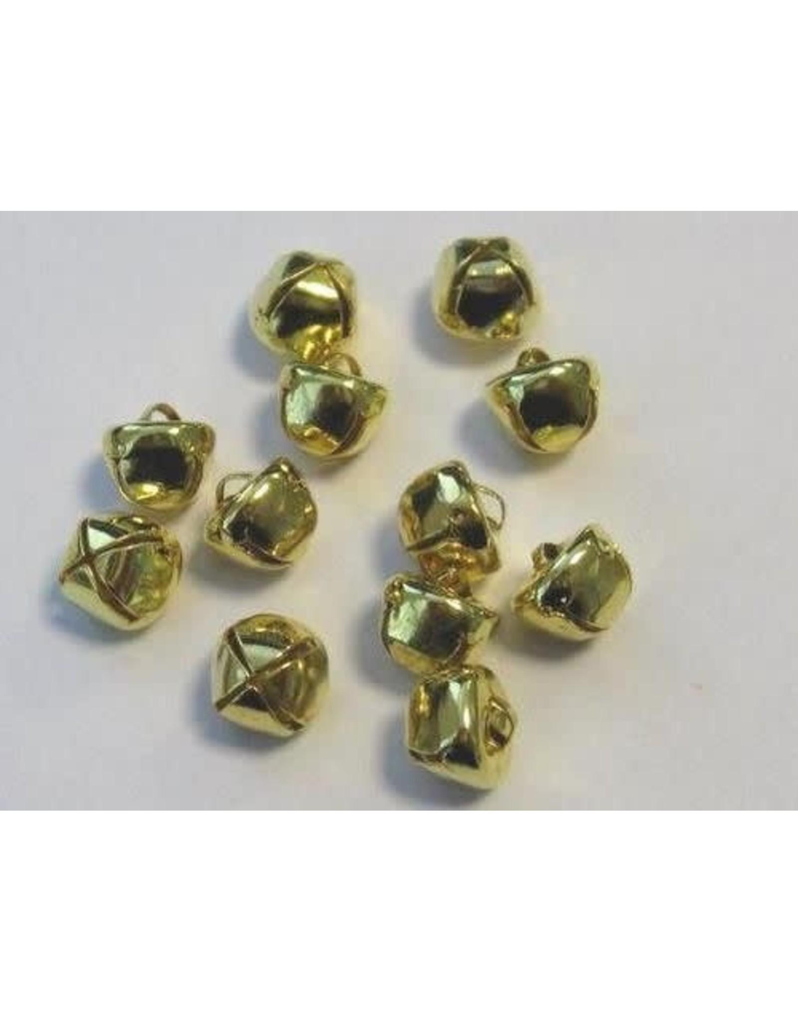 hobby crafting fun Kerst belletjes goudkleur 10 mm 12 ST (1 PK) 12239-3912