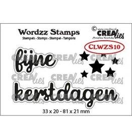 Crealies Crealies Clearstamp Wordzz Fijne Kerstdagen (NL) CLWZS10 81x21mm