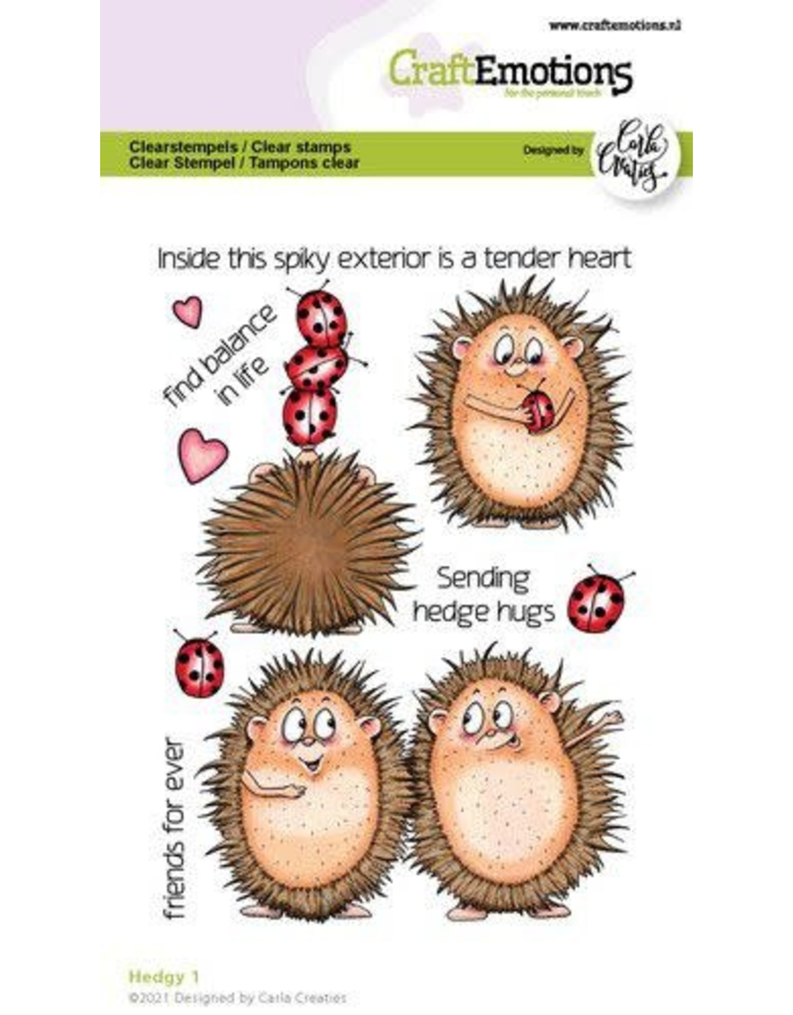 Craft Emotions CraftEmotions clearstamps A6 - Hedgy 1 (Eng) Carla Creaties