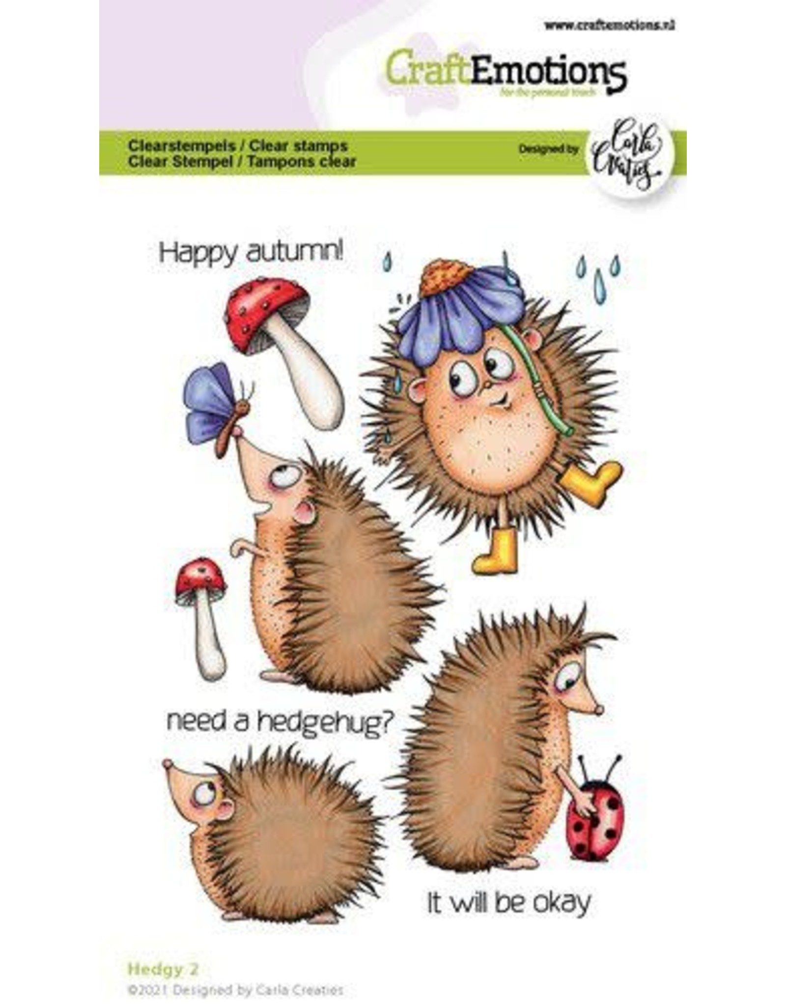 Craft Emotions CraftEmotions clearstamps A6 - Hedgy 2 (Eng) Carla Creaties