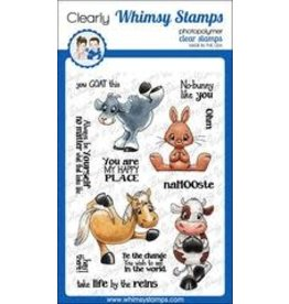 Whimsy Stamps Whimsy Stamps Yoga Animals Clear Stamps