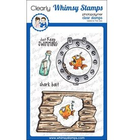 Whimsy Stamps Whimsy Stamps Lookin' Shark Elements Clear Stamps