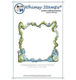 Whimsy Stamps Whimsy Stamps Wizard Potions Frame Rubber Cling Stamp