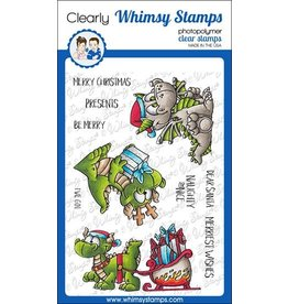 Whimsy Stamps Whimsy Stamps Dragon Christmas Wishes Clear Stamps