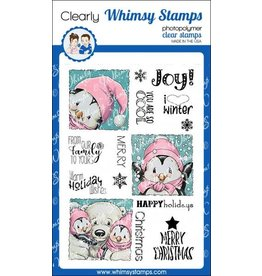 Whimsy Stamps Whimsy Stamps Penguin Holiday Squares Clear Stamps