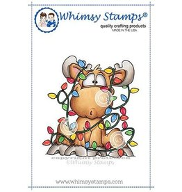 Whimsy Stamps Whimsy Stamps Moose Tangle Rubber Cling Stamp