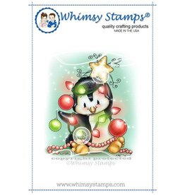 Whimsy Stamps Whimsy Stamps Penguin Christmas Tree Rubber Cling Stamp