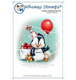 Whimsy Stamps Whimsy Stamps Penguin Birthday Rubber Cling Stamp