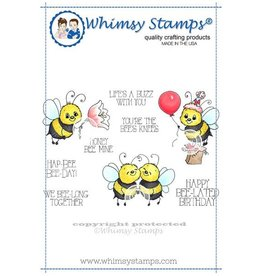 Whimsy Stamps Whimsy Stamps Bee Happy Rubber Cling Stamp