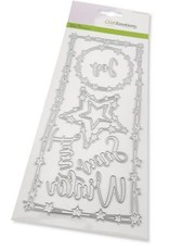 Craft Emotions CraftEmotions Die - Slimline ster - tekst Winter Card 27,5x11cm Die 21x9,8cm
