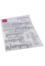 Marianne Design Marianne D Clear Stamps Handgeschreven - Kerst (NL) CS1067 1110x150mm