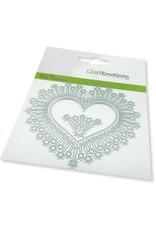 Craft Emotions CraftEmotions Die - border hart magic stars Card 11x9cm -cm -cm