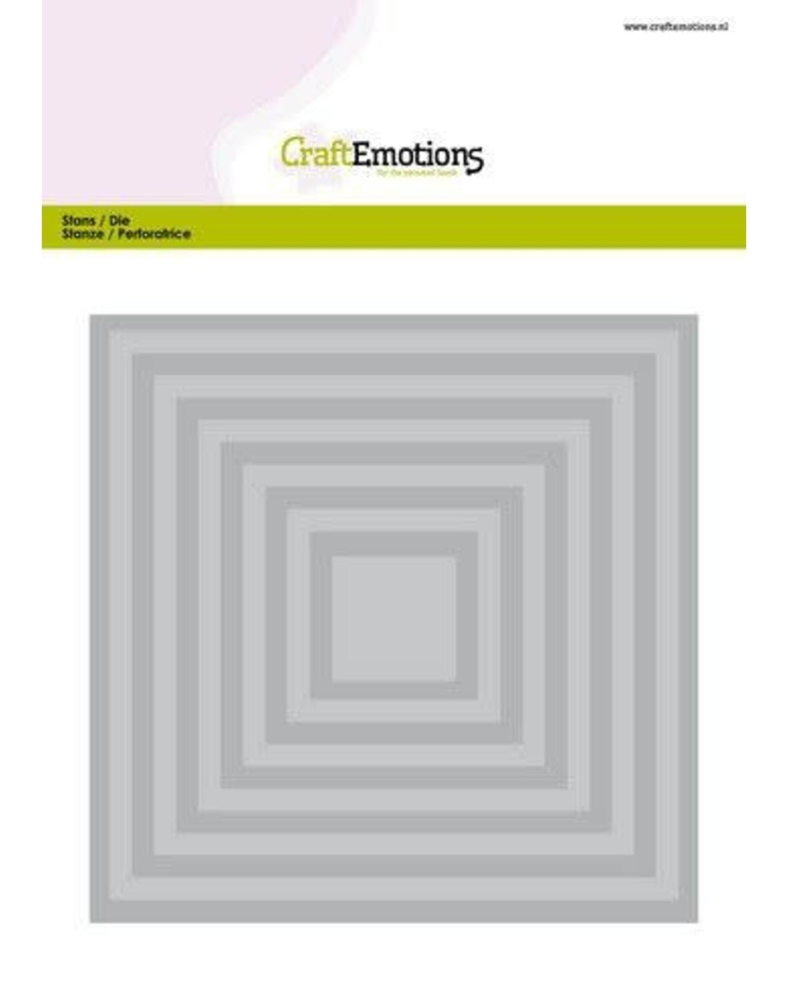 Craft Emotions CraftEmotions Big Nesting Die - vierkanten Card 150x160 - 6,6-15,0cm