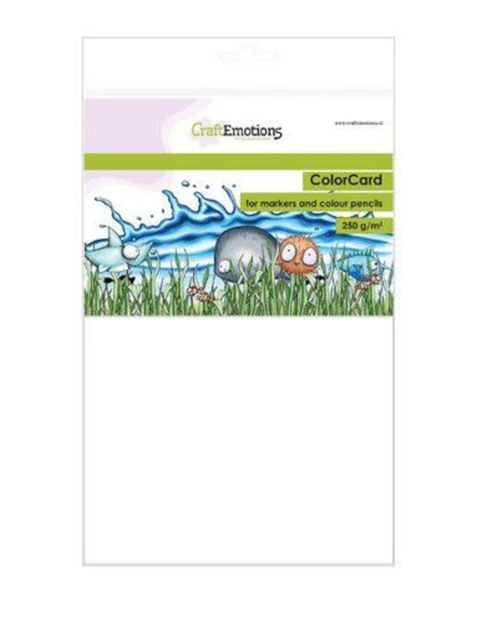 Craft Emotions CraftEmotions ColorCard - kleurpapier voor markers wit 12 vl A5 - 250 gr