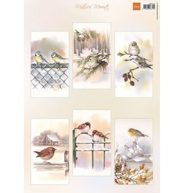 Marianne Design Marianne D Decoupage Mattie's Mooiste - Slimline Vogels MB0196 A4
