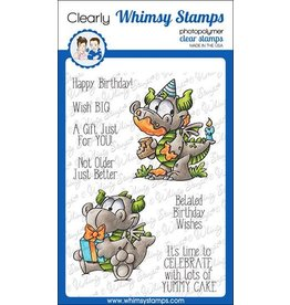 Whimsy Stamps Whimsy Stamps Birfday Dragons Clear Stamps DP1052