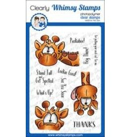 Whimsy Stamps Whimsy Stamps Giraffes Peeking DP1045