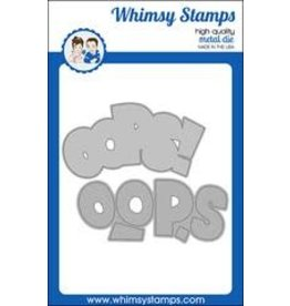 Whimsy Stamps Whimsy Stamps OOPS word and Shadow Die  WSD465