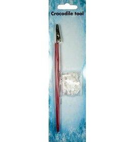 Nellie's Choice Nellie's Choice Crocodile tool set 2 pcs/pkg with 50 pompoms CROC002