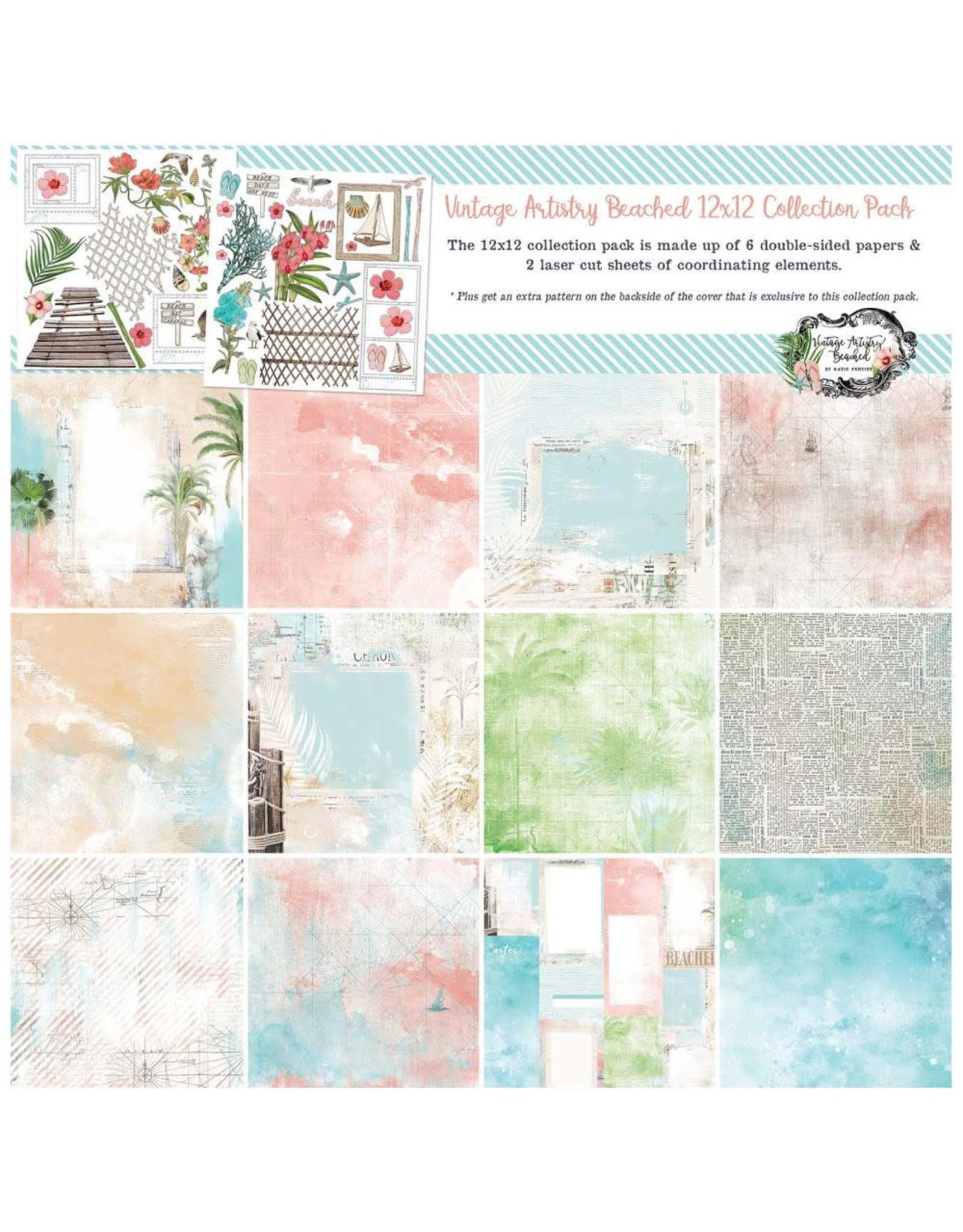 """49 and Market 49 and Market Vintage Artistry Beached - Collection Pack 12x12"""""""
