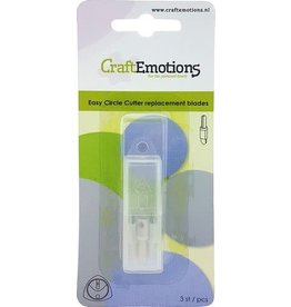 Craft Emotions CraftEmotions Easy circle cutter - reserve mesjes 3 st