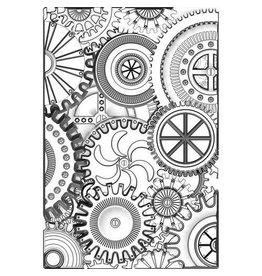 Sizzix Sizzix 3-D Texture Fades Embossing Folder - Mini Mechanics 665633 Tim Holtz
