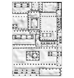 Sizzix Sizzix 3-D Texture Fades Embossing Folder - Mini Foundry 665634 Tim Holtz