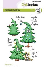 Craft Emotions CraftEmotions clearstamps A6 - Xmas trees 1 (Eng) Carla Creaties